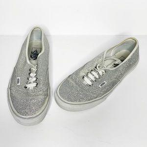 Silver sparkle vans